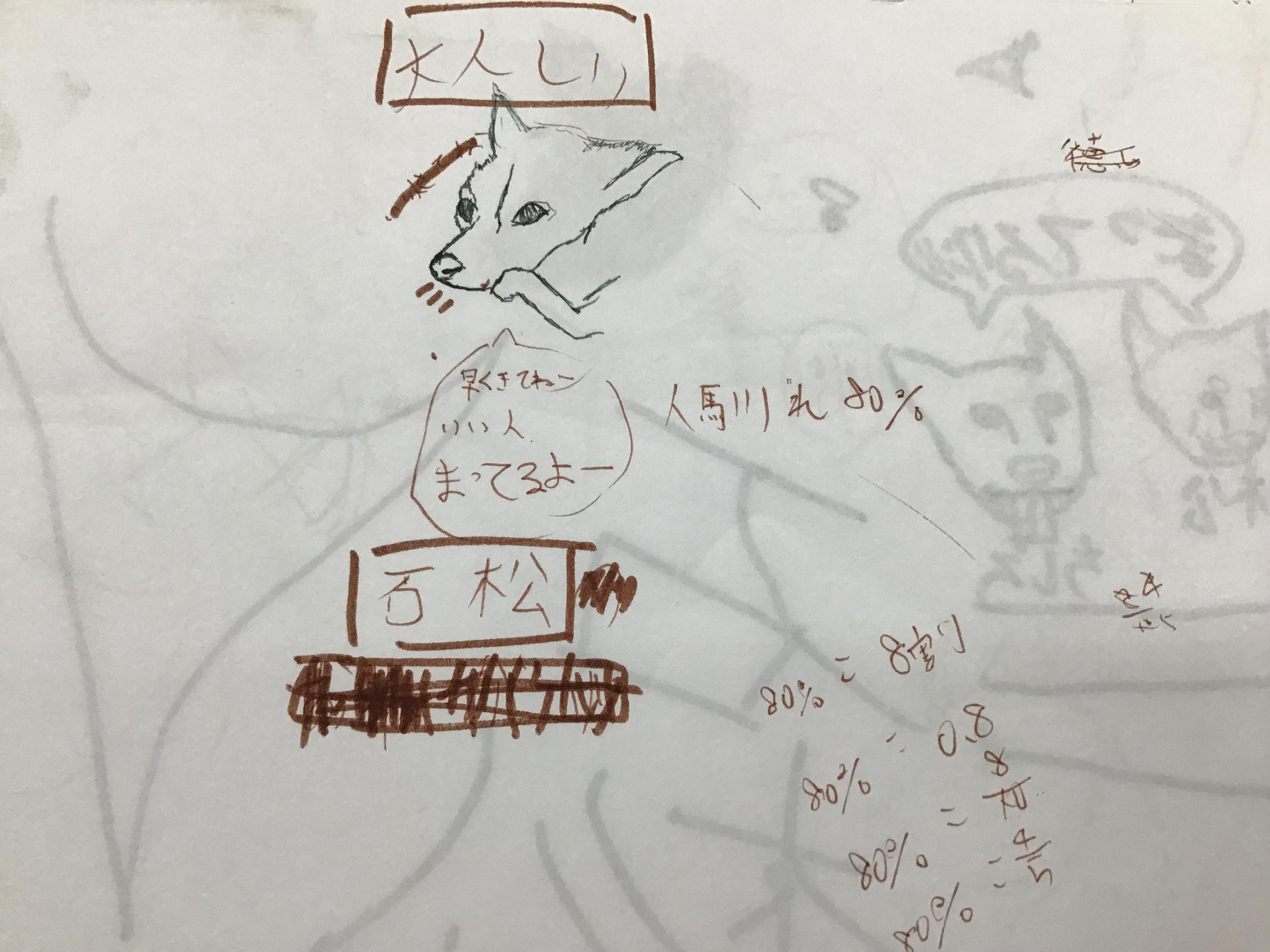ちしろと石松 アート作品